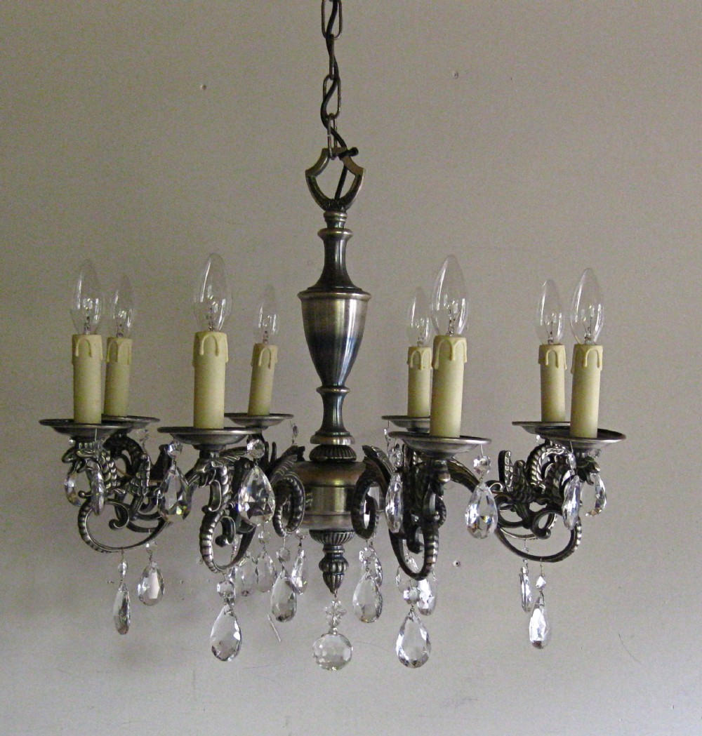 Antique Pewter Chandelier - Pewter Chandelier - Vintage Pewter Chandelier At 1stdibs, Antique In