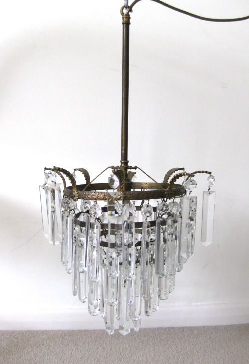 A four tier crystal drop ceiling light lancaster antiques a four tier crystal drop ceiling light mozeypictures Gallery
