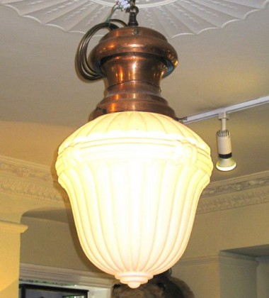SINGLE OR PAIR LARGE VICTORIAN GAS GLOBE LIGHTS
